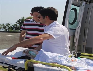 Havale Geçiren Bebeğin İmdadına Ambulans Helikopter Yetişti