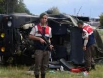 KARTON FABRİKASI - Ergene'de Askeri Araç Takla Attı: Yaralılar Var