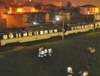 Tren yanlış raya girdi, yolcular mahsur kaldı