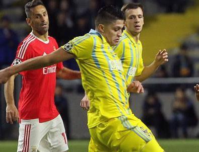 Astana 2-2 Benfica