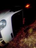 Aşırı Yağış Nedeniyle Minibüs Şarampole Devrildi