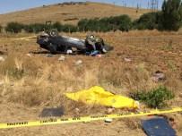 Tekeri Kopan Otomobil Takla Attı Açıklaması 1 Ölü, 3 Yaralı