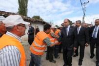 Vali Çomaktekin Hamamözü'de Yol Yapım Çalışmalarını İnceledi