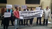 SİNAN ÇETİN - Yönetmen Sinan Çetin'e Ait İş Yerinden Çıkartılan İşletmeci Ve Esnaf Eylem Yaptı