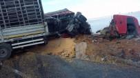 Konya'da İki Tır Çarpıştı Açıklaması 1 Ölü, 1 Yaralı