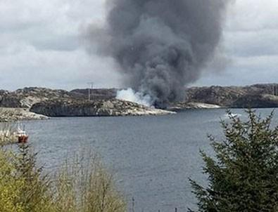 Norveç'te helikopter düştü