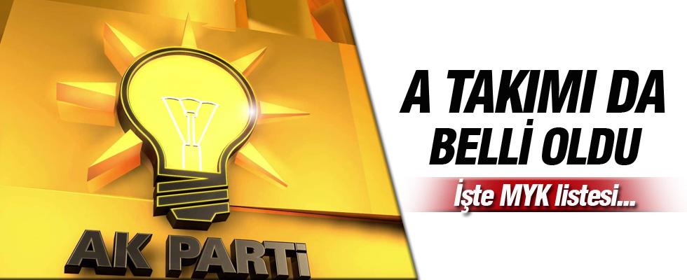 Binali Yıldırım, AK Parti MYK Listesi'ni açıkladı