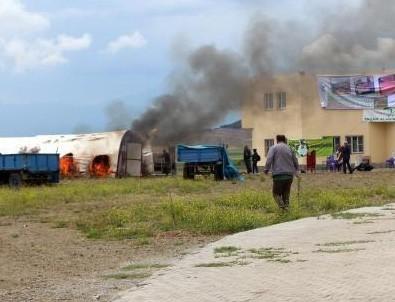 HDP'liler konteyner kenti yaktı