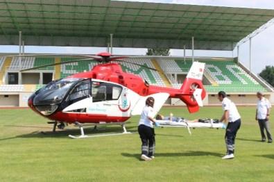 Yüksekten Düşen Çocuğun İmdadına Ambulans Helikopter Yetişti