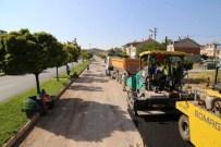 PTT  - Osmanlı Mahallesi Tennuri Caddesi'nde Asfaltlama Çalışması