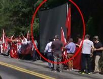 İşte Gülen'in kapısının önüne kurulan dev ekran