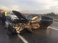 RUHSAR DEMİREL - MHP Genel Başkan Yardımcısı Demirel trafik kazası geçirdi
