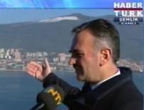 NTV - Habertürk canlı yayınında NTV mikrofonu
