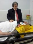 İl Sağlık Müdürü Benli, Kazada Yaralanan Sağlık Personelini Ziyaret Etti