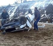 Hasta Babalarını Görmeye Giderken Kaza Geçirdiler