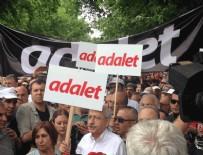 Kılıçdaroğlu ''adalet'' yazılı pankart taşıdı