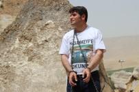 ZİNCİRLİ EYLEM - HDP'li Aslan Kendini Kayaya Zincirledi