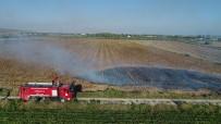 Anız Yangını Drone İle Tespit Edildi, İtfaiye Ekipleri Söndürdü