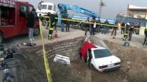 GÜNCELLEME - Konya'da Otomobil Menfeze Çarptı Açıklaması 3 Ölü, 1 Yaralı