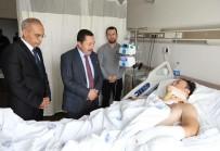 İRFAN BALKANLıOĞLU - Vali Balkanlıoğlu'ndan Araçla Sürüklenerek Yaralanan Polis Memuruna Ziyaret