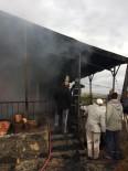 İnallı Köyünde Çıkan Ev Yangını Kısa Sürede Söndürüldü