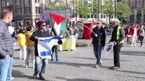 İSRAIL BAYRAĞı - Hollanda'da Filistin Gösterisinde İsrail Taraftarından Saldırı