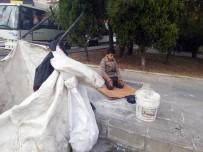 HABERCİLER - Kağıt Toplayan Suriyeli Çocuğun Sokakta Namaz Kıldığı Görüntüler Duygulandırdı