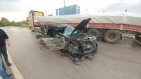 TAKSİRLE ÖLÜME SEBEBİYET - 2 Çocuğun Öldüğü Feci Kazada Tır Sürücüsü Tutuklandı