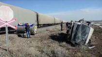 Konya'da Yük Treni İle Kamyonet Çarpıştı Açıklaması 1 Ölü