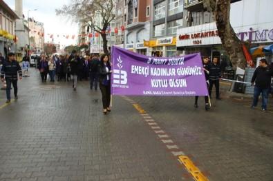 Kadınlar 8 Mart için yürüdü