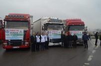 Trabzon'dan Afrin'e 3 TIR Dolusu Yardım Malzemesi Yola Çıktı