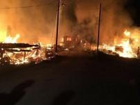 Kastamonu'da 7 Ev Ve 3 Samanlık Yandı