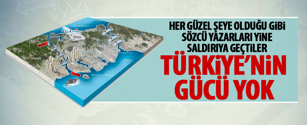 Rahmi Turan, Kanal İstanbul projesine saldırdı
