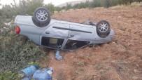 Mıcır Yüzünden Araç Takla Attı Açıklaması 2 Yaralı