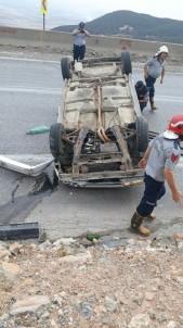 Otomobil Ters Döndü Açıklaması 1 Yaralı