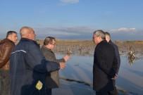 CEMAL HÜSNÜ KANSIZ - Vali Deniz, Yağmurdan Etkilenen Mahalle Ve Tarım Arazilerini İnceledi
