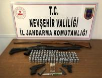 Gülşehir'de Bir Evde Çok Sayıda Silah Ve Mermi Ele Geçirildi