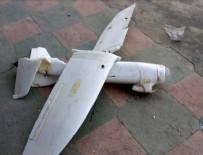 ROKETATARLAR - Terör örgütü YPG/PKK'nın insansız hava aracı düşürüldü