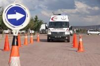 HIZ KONTROLÜ - Aksaray'da Ambulans Sürücüleri Parkurun Tozunu Attırdı