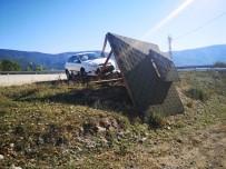 AYŞE ŞAHİN - Otomobil Kamelyaya Çarptı Açıklaması 3 Yaralı