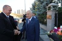 BEYTEPE - Cumhurbaşkanı Erdoğan, MHP Lideri Bahçeli'yi Ziyaret Etti