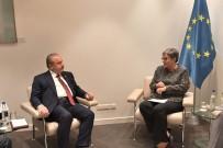 STRASBOURG - TBMM Başkanı Şentop, AKPM Başkanı Pasquier İle Görüştü
