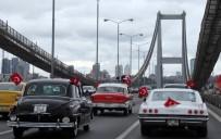 KLASİK OTOMOBİL - Köprüde Klasik Araçlarla 'Çok Yaşa Cumhuriyet ' Konvoyu