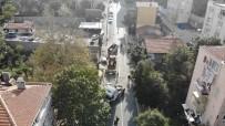 YAYA TRAFİĞİ - (Özel) Freni Boşalan Kereste Yüklü Tır Yokuş Aşağı Sürüklendi