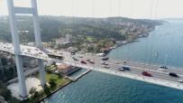 KLASİK OTOMOBİL - Klasik Otomobillerin 15 Temmuz Şehitler Köprüsü'ndeki Cumhuriyet Konvoyu Havadan Görüntülendi