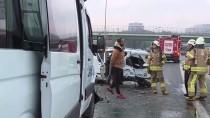 BASıN EKSPRES YOLU - Bahçelievler'de Trafik Kazası Açıklaması 1 Yaralı