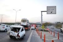 BASıN EKSPRES YOLU - Servis Aracı Otomobile Çarptı Açıklaması 1 Ağır Yaralı