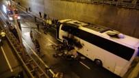 YALıNCAK - Faciadan Dönüldü Açıklaması Yolcu Otobüsünde Yangın Çıktı