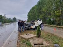 İşçileri Taşıyan Minibüs Refüjde Takla Attı Açıklaması 6 Yaralı