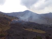 Gökçeada'da Korkutan Yangın Söndürüldü